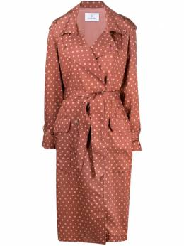 Manuel Ritz lined polka-dot trench coat 3036CD0121402627