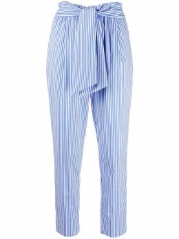 Manuel Ritz stripe belted cropped trousers 3036PD0321402885