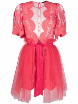 Elisabetta Franchi lace-panelled tulle mini dress AB11811E2