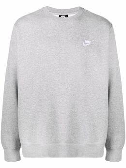 Nike Club embroidered-logo fleece sweatshirt BV2662F063