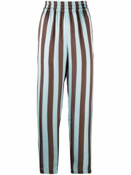 Manuel Ritz striped high-waisted trousers 3036PD0621403180