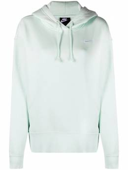 Nike Swoosh-embroidered cotton-blend hoodie CZ2590